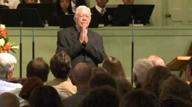 Jimmy Carter Teaches His Congregation About Universal Health Care