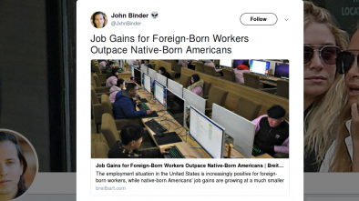 Job Growth for Foreign Workers Growing Twice as Fast