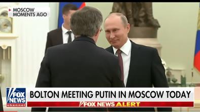 John Bolton Visits Russia Before Trump-Putin Summit