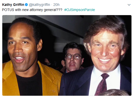 Kathy Griffin Suggests OJ Simpson as 'New Attorney General' for Trump