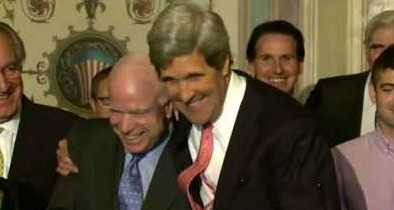Kerry Claims He Was For McCain Before He Was Against Him