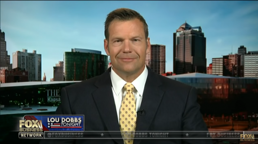 Kobach Beat Incumbent Governor to win Nomination for Kansas Governor