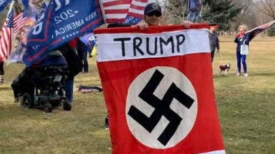 Lib Media Deploy Hoaxes, Hyperbole to Claim Trump a 'Nazi' for Protest Support