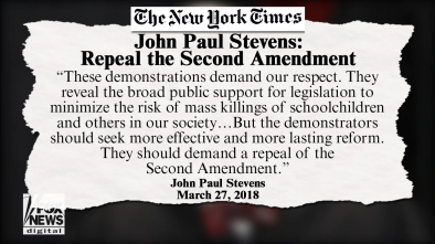 Liberal Journalists Tell Justice Stevens: Shut-Up about Repealing the 2nd Amendment