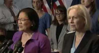 Liberal Sens. Hirono and Gillibrand Give Platform to Kavanaugh Accusers After Saying Men Should 'Shut Up'