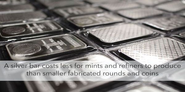 Purchase silver bars from Money Metals Exchange a trustworthy dealer.