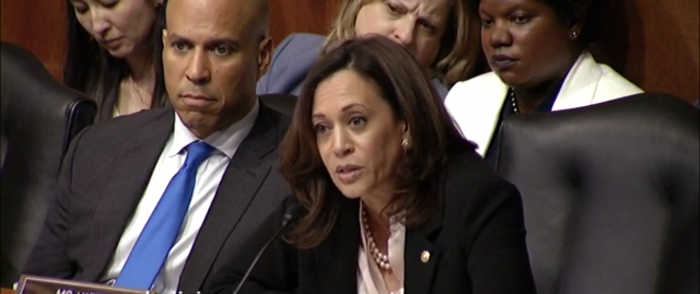 Low-Info Sen. Kamala Harris Claims Shock that Rosenstein Had Role in Mueller Decision
