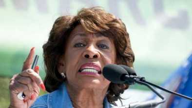 Maxine Waters Calls for Parental Advisory when Trump's on TV