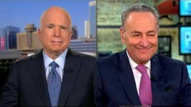 McCain Wants to Help Schumer Pass Amnesty Bill When He Returns