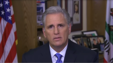 McCarthy: Pelosi Withholding Impeachment Articles to Help Biden, Hurt Bernie