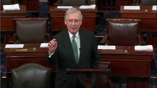 McConnell Pushes Back on Corrup