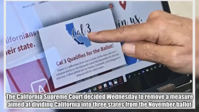 Measure to Break Up California is Removed from Ballot by Court