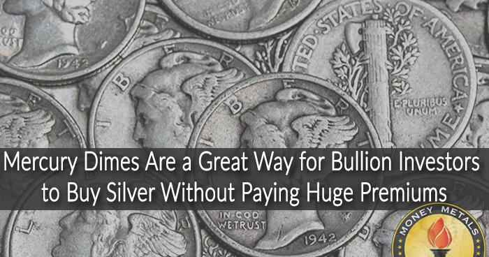90% Mercury Dimes from Money Metals Exchange