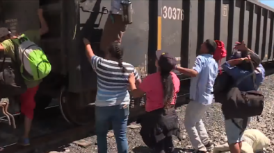 Mexico Detains And Arrests Central American Migrants Heading to the U.S. Border on 'The Beast'