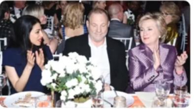 Harvey Weinstein w/ Hillary & Huma Abedin