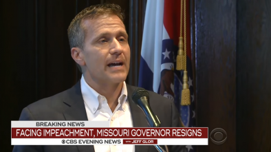 Missouri Gov. Greitens Resigns Amid Sex Scandal, Finance Probe