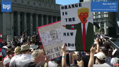 Nationwide Hundreds of Thousands Protest Trump's Illegal Alien Policies
