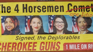 NC Gun Store Hits 'The Squad' w/ Billboard Calling Them 'Idiots'