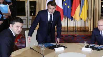 New Ukraine Pres. Zelenskiy Meets Putin for First Time at French Summit