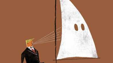 'New Yorker' Magazine Cover Depicts Trump Sailing with the Klan