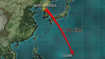 North Korea Threatens to Strike Guam at 'Any Moment'