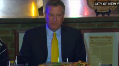 NYC Mayor Bill de Blasio Slams Domino's Pizza for 'Jacking Up' Pizza Prices on NYE 1