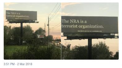 PAC Erects Billboard, 'NRA Is a Terrorist Organization'