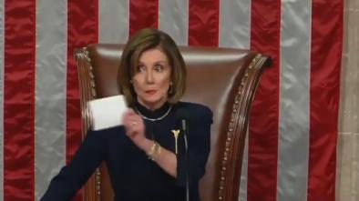 Phony Pelosi Stifles Smirk while Chiding C