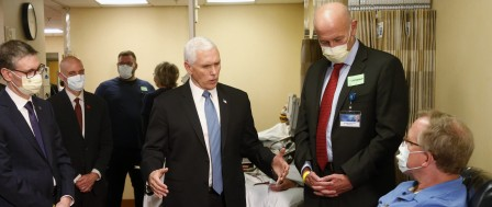 Pence Comes Under Fire for Going Maskless at Mayo Clinic