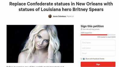Petition Calls for Replacing Statues of Confederate Leaders with Britney Spears