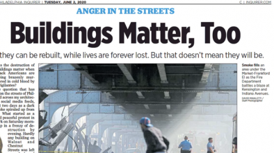 Philadelphia Editor Shamed into Resigning Over 'Buildings Matter' Headline
