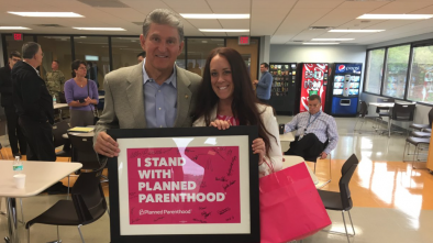 'Pro-Life' Sen. Joe Manchin Poses in Support of Planned Parenthood