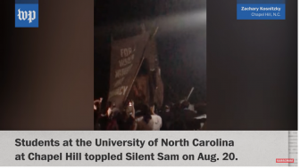 Protesters Clash in at UNC Campus over Toppling of Confederate Statue
