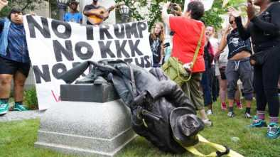 Protesters Topple Confederate Statue In NC [VIDEO]