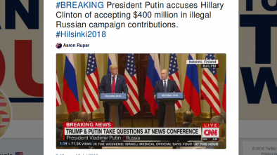 Putin Bombshell: US Intel Agents Funneled $400 Million To Clinton Campaign