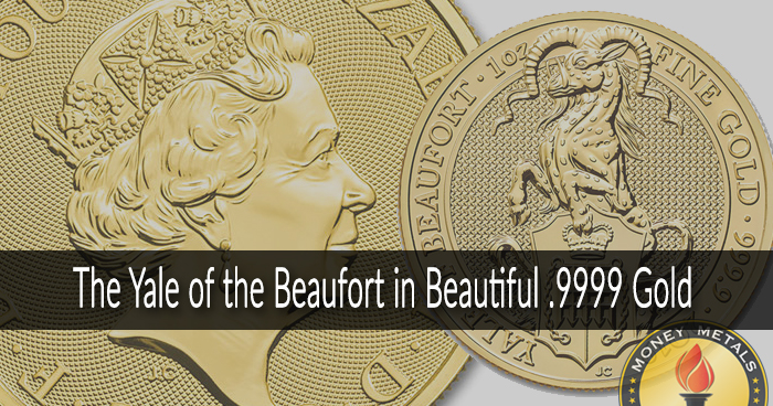 Queen's Beast Yale Gold Coins from Money Metals Exchange