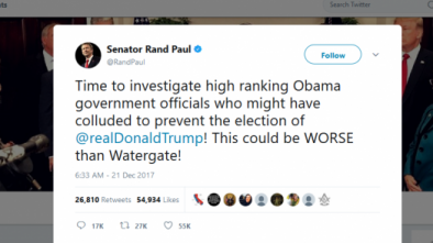 Rand Paul Calls for Investigation of Collusion Against Trump