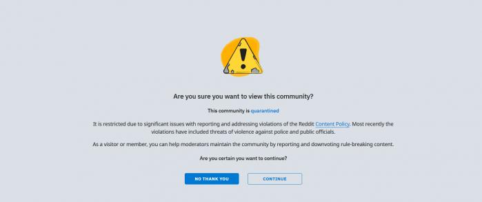 Popular Trump Thread on Reddit Gets Quarantined after Media