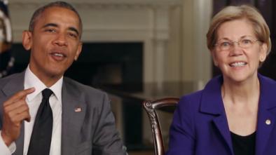 REPORT: Obama Talking Up Elizabeth Warren to Big Democratic Donors