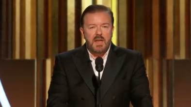 Ricky Gervais Mocks Hollywood w/ Explicit Jokes at Globes