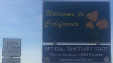 'Sanctuary State' Signs Pop Up at Entries to California