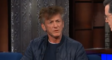 Sean Penn promotes new book while smoking, on Ambien