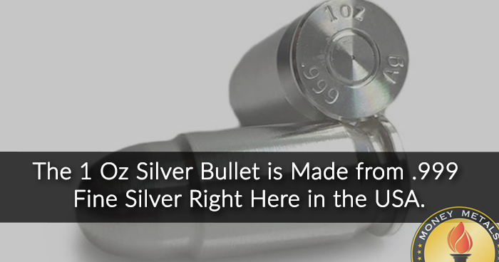 1 oz Silver Bullets from Money Metals Exchange