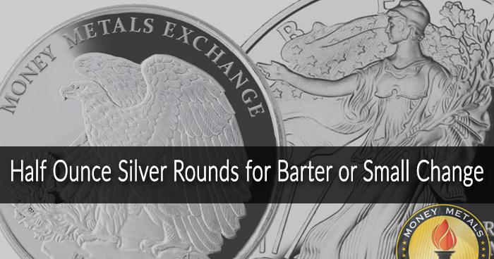 Walking Liberty Half Oz Silver Rounds from Money Metals Exchange