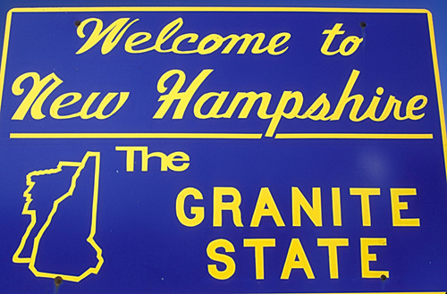 welcome to New Hampshire sign photo