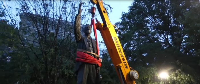 Statue of Progressive Family's Pro-Slavery Patriarch Gets a Pass from Black Lives Matter