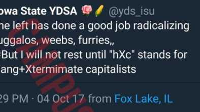 Student Socialist Group Calls for 'Extermination' of Capitalists