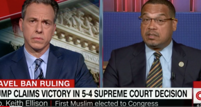 Tapper Catches Keith Ellison in Four Pinocchio Lie About Support for Radical Islam