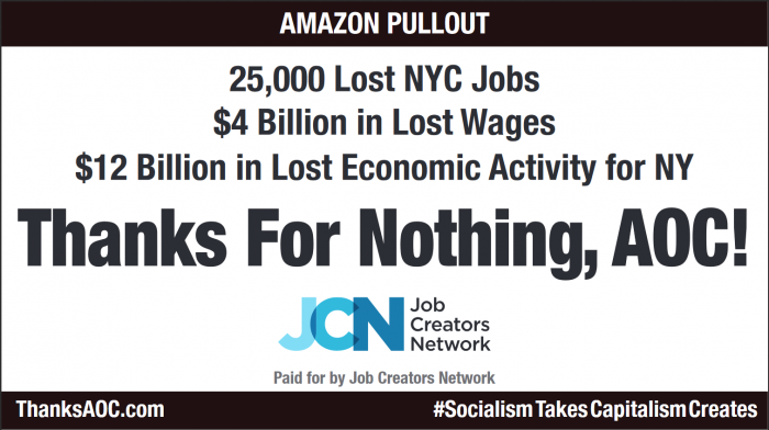 Times Square Billboard: 'Thanks For Nothing, AOC!'
