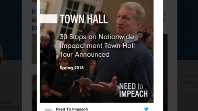 Town Halls Supporting Efforts to Impeach Trump Scheduled for 30 Cities